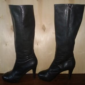 Authentic Coach Scarlette Black Heeled Boots